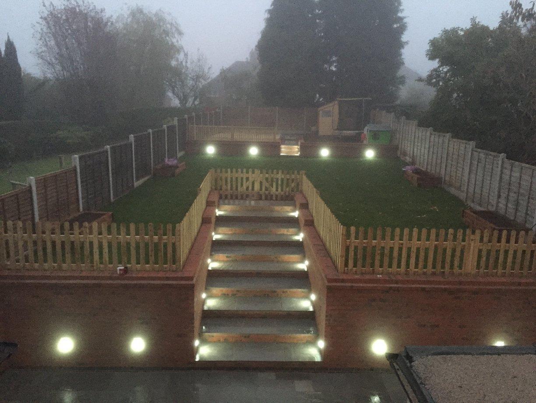 garden makeover lighting